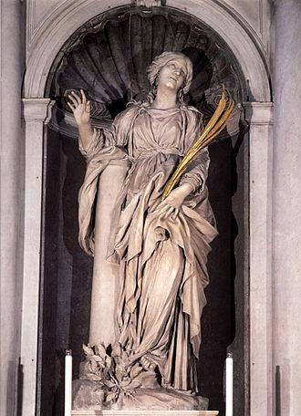 Saint Bibiana - Saint Bibiana by Gian Lorenzo Bernini, Santa Bibiana, Rome