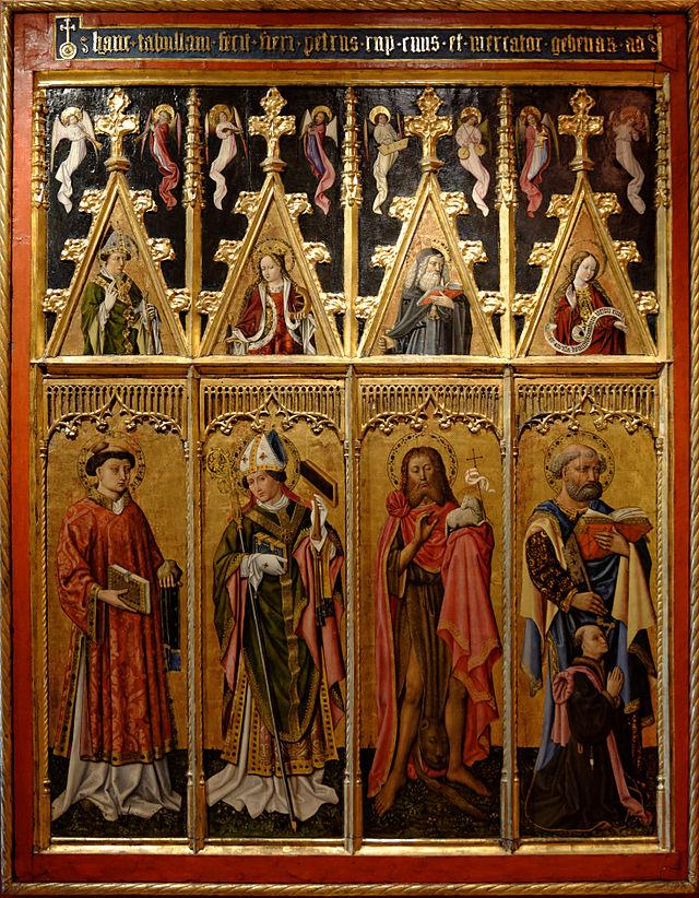English : Saint Stephen, Saint Blaise, Saint John the Baptist, Saint ...