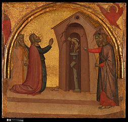 Saint John the Evangelist Causes a Pagan Temple to Collapse