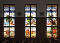 Saint Maximilian Kolbe Catholic Church (Liberty Township, Ohio) - stained glass, The Last Supper bank 2.jpg