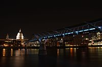Saint Paul's Cathedral by night.JPG