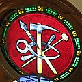Saint Peter Church (Upper Sandusky, Ohio) - stained glass, Instruments of the Crucifixion.jpg