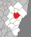 Sainte-Justine Quebec location diagram.png