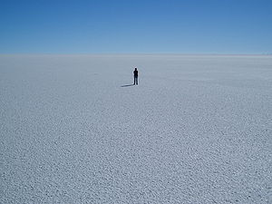 Salt pan (geology) - Salar de Uyuni in Bolivia