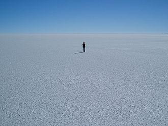 Salt pan (geology) - Salar de Uyuni in Bolivia