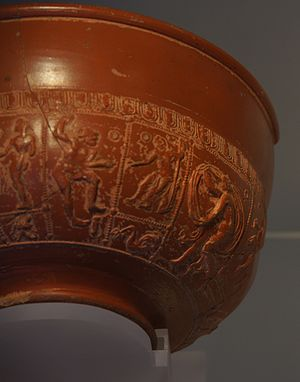 Inveresk Roman Fort - Samian bowl from Inveresk