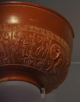 Inveresk Roman Fort - Samian bowl from Inveresk