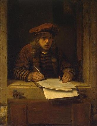 Samuel Dirksz van Hoogstraten - Self-portrait ca. 1647