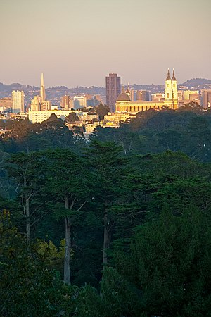 San Francisco Recreation & Parks Department - View of downtown from Golden Gate Park.