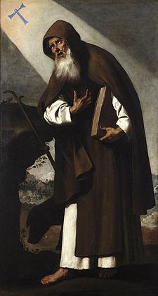 Francisco de Zurbarán, San Antonio Abad, 1664