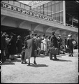 San Bruno, California. Families of Japanese ancestry arrive at assembly center at Tanforan Race Tra . . . - NARA - 537495.tif
