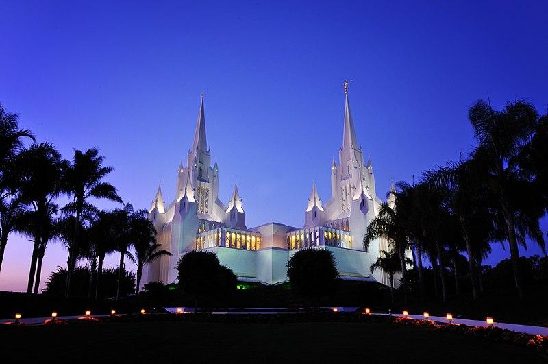 File:San Diego LDS Temple, twilight.jpg