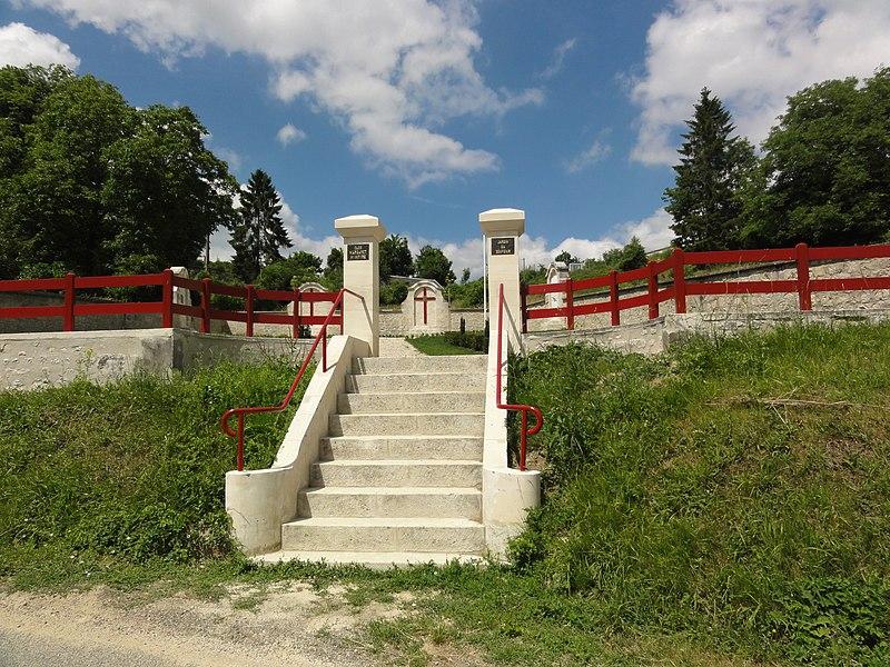 Sancy-les-Cheminots (Aisne) jardin de mémoire, entrée