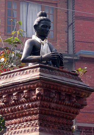Nepal Sambat - Statue of Sankhadhar Sakhwa at Pulchok, Lalitpur.