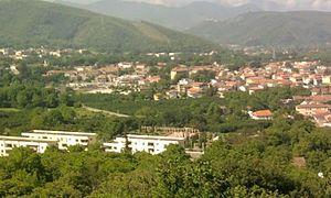 Montoro, Campania - Aerial view of Sant'Eustachio and San Pietro