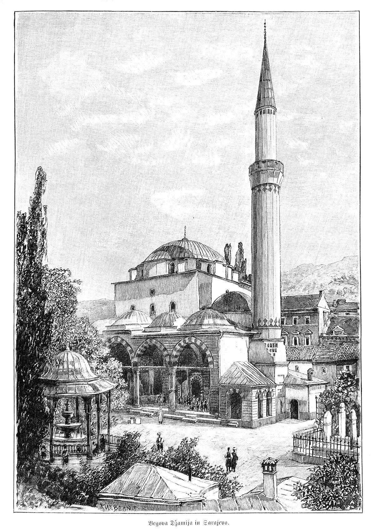 Slikovni rezultat za begova džamija u sarajevu