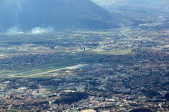 Dobrinja - Dobrinja and Sarajevo Airport as seen from Mount Trebević