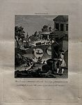 Satire on false perspective. T. Cook after W. Hogarth, 1803 Wellcome V0049303.jpg