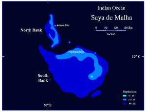 Saya de Malha Bank - Map of Saya de Malha
