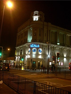 Pentonville Road - The Scala was previously the King's Cross Cinema, established on Pentonville Road in 1920.