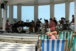 Light music - The Scarborough Spa Orchestra, the last surviving professional seaside orchestra, give a concert of light music in August 2009