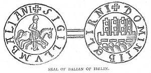 Balian of Ibelin - Image: Sceau de Balian d'Ibelin