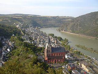 Oberwesel Place in Rhineland-Palatinate, Germany