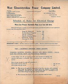 Schedule of charges, page 1 (West Gloucestershire Power Company).jpg