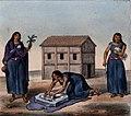 Schmidtmeyer- Scharf, George Johann - 3 Mapuche women -JCB Library 2.1.jpg