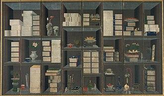 Chaekgeori - Image: Scholar's books and things, Yi Eungrok, Asian Art Museum San Franscisco 1998.111