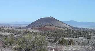 Modoc War - Schonchin Butte, a cinder cone named for Old Schonchin, a chief of the Modoc people during the late nineteenth century.