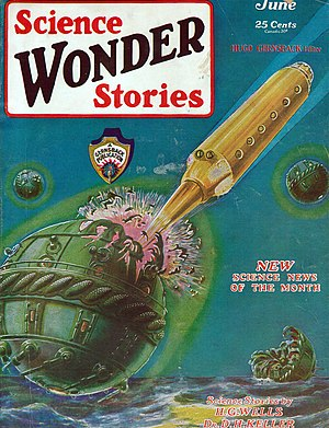 Wonder Stories - The first issue of Science Wonder Stories, June 1929. The cover is by Frank R. Paul.