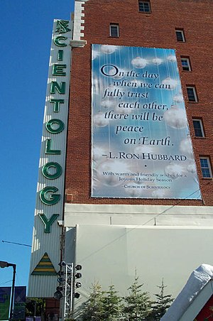 Scientology building on Hollywood Boulevard in...
