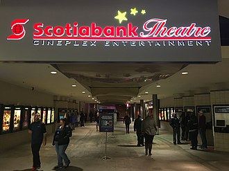 Empire Theatres - Scotiabank Theatre (Cineplex) in St. John's, Newfoundland and Labrador, formely Empitre Theatres Studio 12