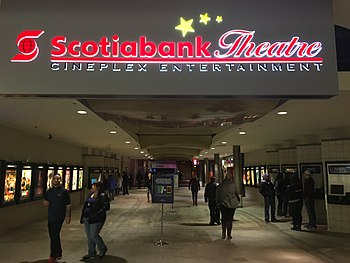 Scotiabank Theatre (Cineplex) in The Avalon Mall located in St. John's,  Newfoundland and Labrador, formely Empire Theatres Studio 12.