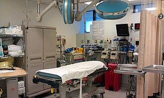 Trauma center - Typical trauma room at Level I Trauma Center.
