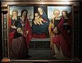 Scuola di cosimo rosselli, madonna col bambino e santi, 1500-1510 ca., da s.michele a pontassieve.JPG