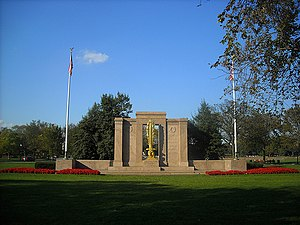 2nd Infantry Division (United States) - Second Division Memorial, dedicated in 1936, is located in President's Park, Washington, D.C.