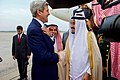 Secretary Kerry Chats With Saudi King Salman After He Arrived At Andrews Air Force Base Before Meeting With President Obama (20936502090).jpg
