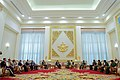 Secretary Kerry and U.S. Delegation Members Sit with Myanmar Commander-in-Chief Min Aung Hliang and his Aides before a Bilateral Meeting at the Commander-in-Chief's Compound in Naypyitaw (27134425246).jpg