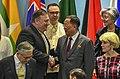 Secretary Michael R. Pompeo speaks with his DPRK counterpart FM Ri Yong Ho (43122008644).jpg