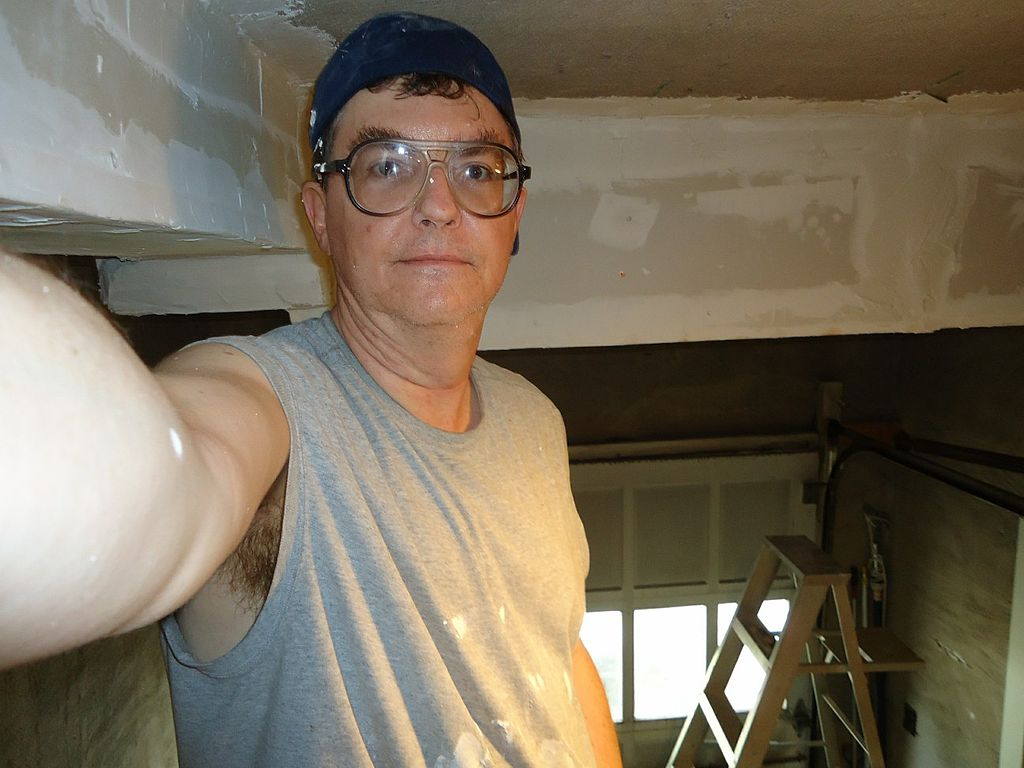 File:Self-photo of your handyman at work with eyebrows out ...