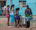 Selling empanadas on the street, Margarita Island.jpg