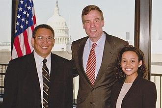 Albert Bryant Jr. - Bryant and his daughter, then-USMA Cadet Veronica Bryant, meet with Virginia Senator Mark Warner.