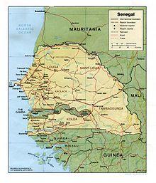 Senegal River Africa Map.Outline Of Senegal Wikipedia