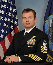 Senior Chief Special Warfare Operator (SEAL) Edward C. Byers Jr. will be awarded the Medal of Honor. (24646290034).jpg