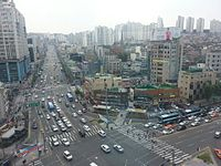 Seoul National University Station Intersection and Bongcheon-ro Intersection and Gwanak-ro.jpg