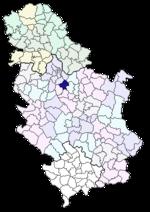 karta srbije mladenovac Opština Mladenovac   Wikipedia karta srbije mladenovac