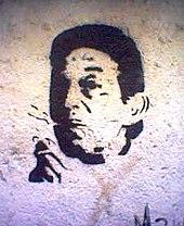 Graffitti w Marsylii z podobizną Gainsbourga