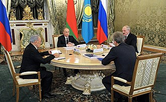 Eurasian Economic Union - A session of the Supreme Eurasian Economic Council (composed of the union's heads of state) is held at least once every year.